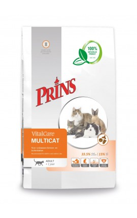 Croquettes pour tous les chats de la famille Prins VitalCare Multicat